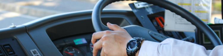 イメージ:ハンドルを握る運転手